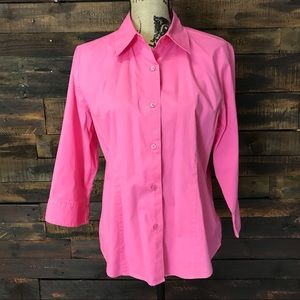 Chadwicks Pink Button Down Career Shirt